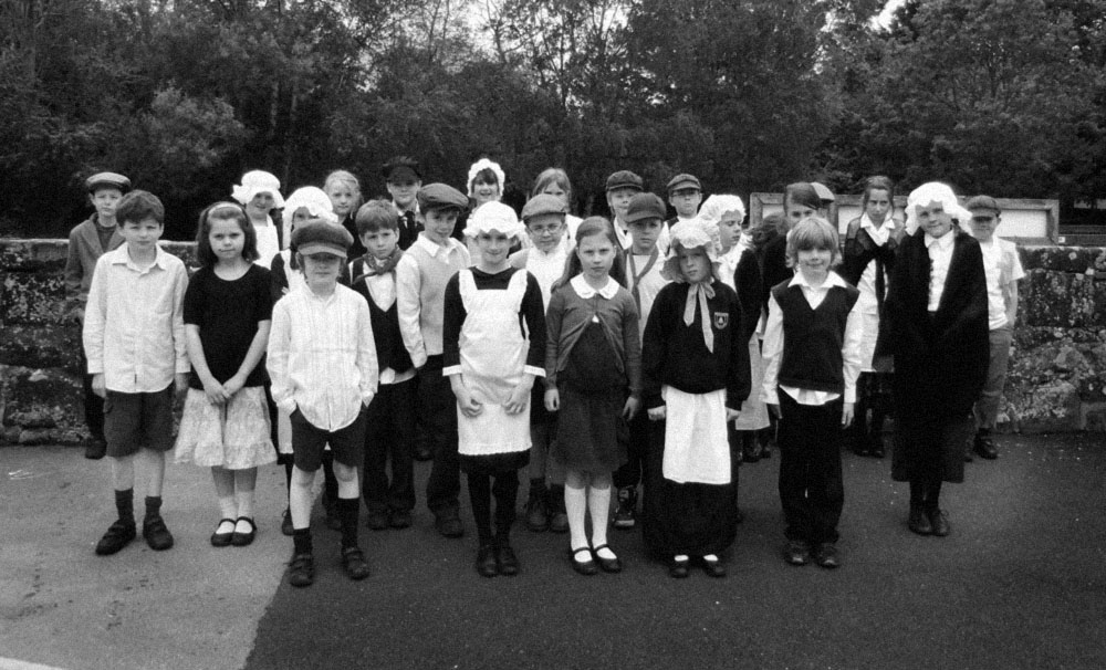 Victorian School Children at Baschurch School